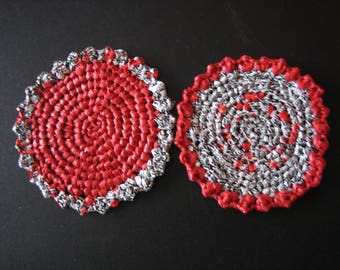 Coaster or red Heather bottle crocheted bags plastic H and M