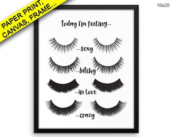 Eye Lashes Wall Art Framed Eye Lashes Canvas Print Eye Lashes Framed Wall Art Eye Lashes Poster Eye Lashes Beauty Art Eye Lashes Beauty