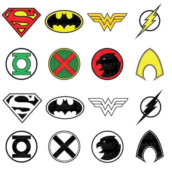 Build Your Own Superhero Logo Clipart Vector Labs