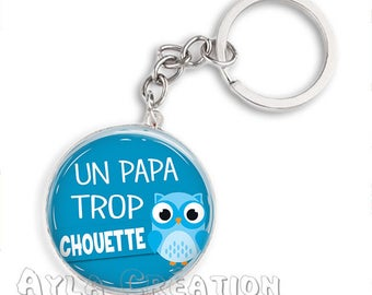 Cabochons glass 25mm #PA_ME020 dad keychain