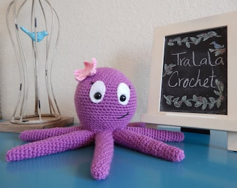 Blue or Purple Crochet Octopus-Ollie or Olive the Octopus