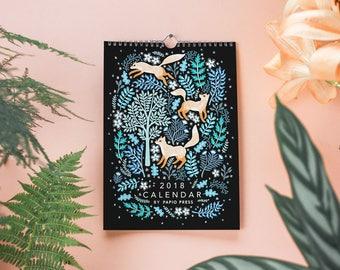2018 Flora & Fauna Wall Calendar