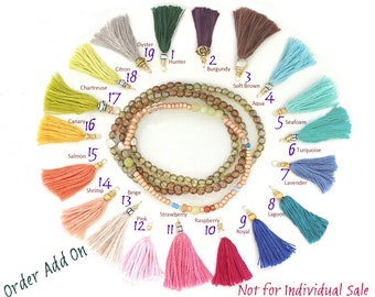 TASSEL COLOR CHART - Not for Individual Sale - Jewelry Add-On Only