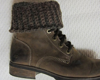 Crochet Boot Cuffs,Boot Cuffs,Brown Boot Cuffs,Boot Topper,Boot Sleeves,Boot Socks,Teen Fashion,Women's Fashion,Feminine Boot Cuffs,Boho