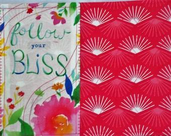 Quilted Snack Mat, Script Mug Rug, Floral Coaster, Quilted Mug Rug, Place Mat Quilted, Coffee Mat, Sewnsewsister