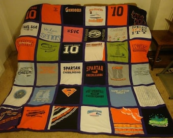 Cheerleader T Shirt Meory Blanket Unlimited Amount of Shirts & Size with Border (framing the shirts)