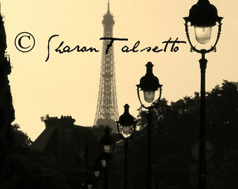 ON SALE! Eiffel Tower Paris France in Sepia by Sharon Falsetto