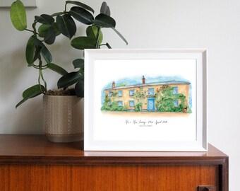 South Farm Wedding Venue Personalised Framed Print
