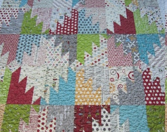 Sweetwater Mash-Up Baby Boy, Toddler or Crib Quilt - Varsity, Hometown, Reunion and Road 15 Collections