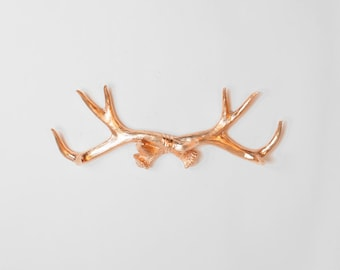 Gold Faux Deer Antler rack - Faux Deer Antler Wall Hook & Jewelry Organizer - Resin Antler Coat Rack  - Faux Gold Antler Wall Decor by WFT