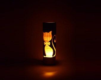 Nursery Lamp, Pet Lamp, Kids Room Lamp, Cat Lamp, Animal Lamp, Bamboo Lamp, Table Lamp, Kids Room Light, Nursery Night Lamp, Shade Lamp