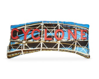 Coney Island Cyclone Printed Pillow