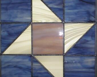 "12"" X 12"" Stained Glass ""Pinwheel Traditional"" Pattern PDF B&W Digital Download"