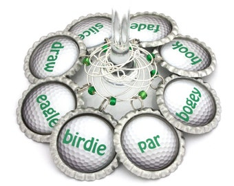 Golf party favors Father's Day gift golf ball wine charms gift for golfer barware sports gift.