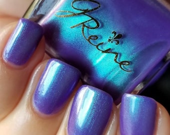Violahh... - Blue Green Purple Duochrome Shimmer Nail Polish