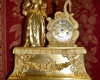 Antique Clock La Pianiste Age. Restauration