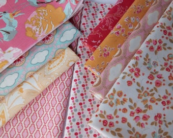 SALE CHATSWORTH Emily Taylor Riley Blake Designs Cotton Quilting Fabrics ~ 9 fat quarters ~ 2.25 yards total