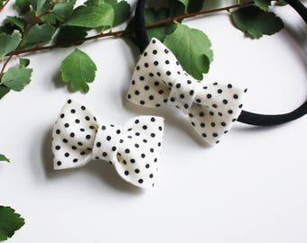 Hair Bows for Toddlers - Polka Dots - Bow Headband - Dancing Dots Bow or Headband