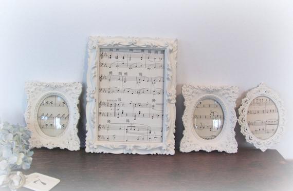 Ornate Picture Frame Set, Antique White Picture Frame Set, Vintage ...