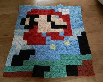 Mario inspired throw / blanket