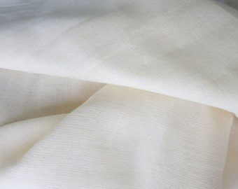 Double Gauze Fabric Natural Unbleached Dyeable Cotton Fabric by Yard