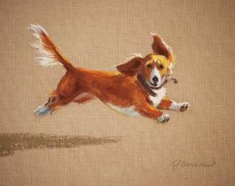 "Large Print- ""Mighty Mutt"", dog, wall art"