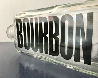 vintage liquor bottle decanters typography Bourbon retro TC Wheaton Co.