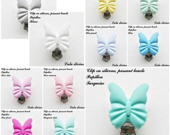 Clamp / Clip silicone pacifier clip, bow tie