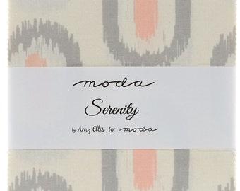 """Serenity by Moda 42 5"""" Charm Pack Squares 100% Designer Cotton by Amy Ellis 3520PP"""