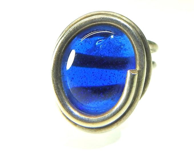 Royal blue ring for women