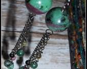 Ruby in Zoisite Earrings,...
