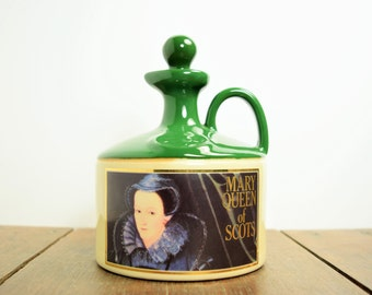 Glenfiddich Bottle - SALE - Mary Queen of Scots Flagon, Scotch Whiskey Decanter, Single Malt Whiskey, Vintage Barware, Vintage Crock