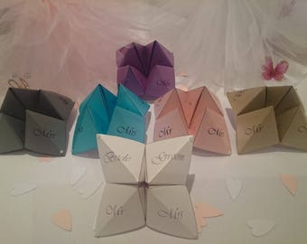Wedding Pearl Shimmer Table Party Origami Game 4 Pack