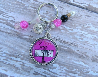 I love my Roughneck Bottlecap Key Chain