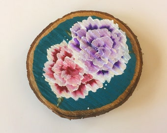 Garden // Large Painted Wooden Plaque