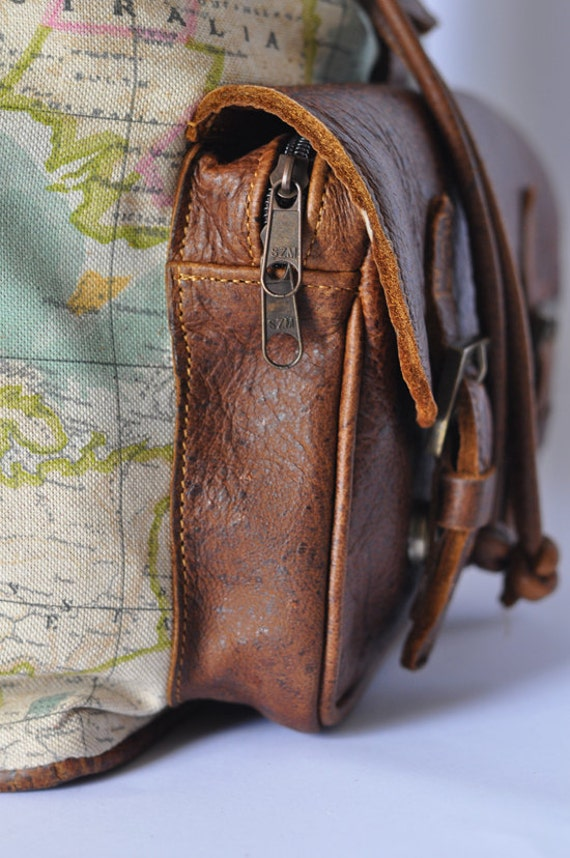 World map backpack atlas print large genuine leather 1200000 world map backpack atlas print large genuine leather 1200000 favourites gumiabroncs Gallery