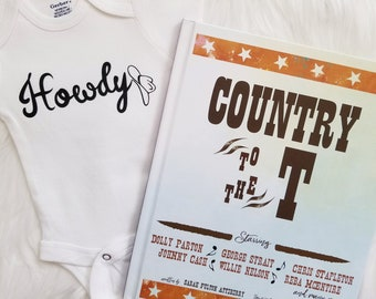 Country to the T, ABC book, Country music book, Baby Boy, Baby girl, Baby shower gift, Newborn baby, Pregnancy photo shoot