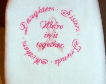 Breast Cancer Fingertip Towel - We're in it Together