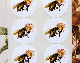 Stickers Bee Flower Vintage Style Envelope Seals Party Favor Treat Bag Stickers SP046