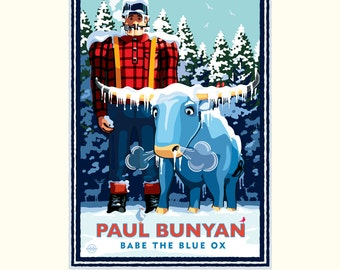 Landmark MN | Paul Bunyan Winter by Mark Herman