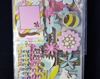 Spring Theme Sticker Kit 180 piece set