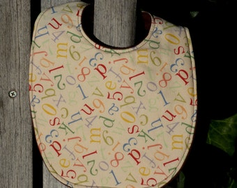 Baby Bib - Alphabet Soup (#154)