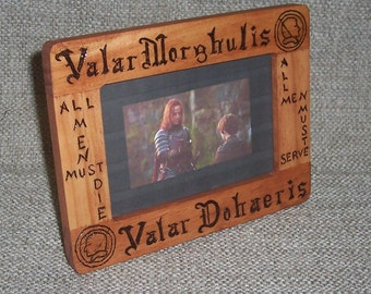 Game of Thrones - Picture Frame - Valar Morghulis - Photo Frame - Jaqen H'ghar