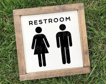 Restroom svg | Unisex Restroom svg | Bathroom svg | Farmhouse svg | Farmhouse Style svg | Female svg | Male svg | SVG | DXF | JPG | cut file