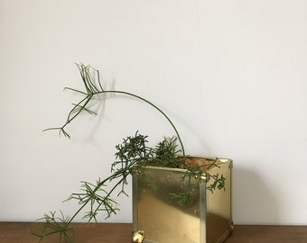 1970s brass clad box planter