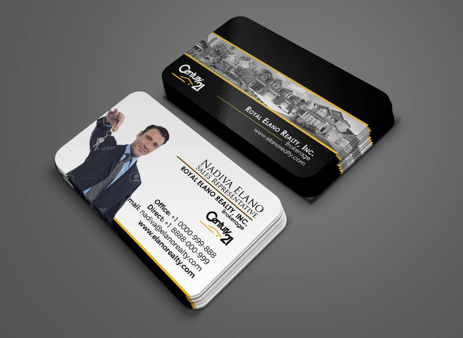 Century 21 Business Card Real Estate Business Card Design