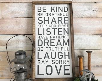 Family Rule Sign, Family Rules, House Rule Sign, Playroom Rule, Wood Sign, Family Rule, Housewarming Gift, Playroom Decor, Farmhouse Style