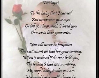 Angel Baby Remembrance Card