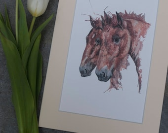 Suffolk punch youngsters A4 print