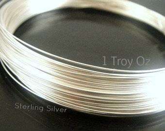 Sterling Silver 22 gauge ga g Soft Round Wire -1ozt - NEW Wholesale Wire - Made in USA